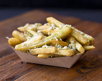 Tossed with garlic butter, fresh garlic and shredded parmesan