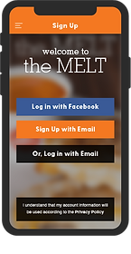 Image of The Melt app, login buttons