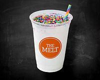 Vanilla milkshake loaded with rainbow sprinkles. $1 benefitting Equality California.