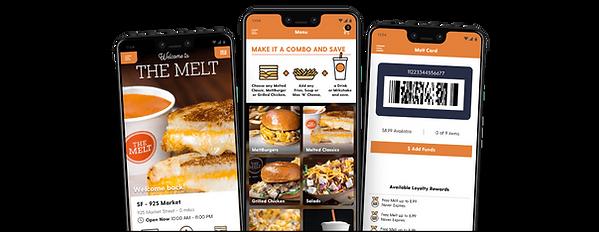 Screenshots from The Melt app