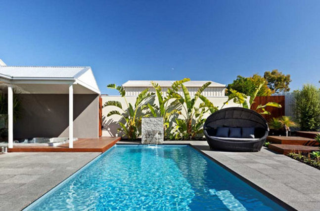 Swimming pool colour - Sapphire - bi-luminite range by Compass Pools