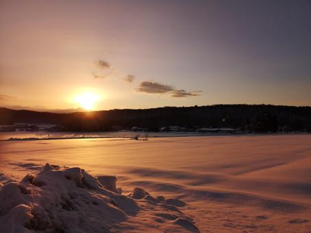 Beutiful sunrise in our neighborhood