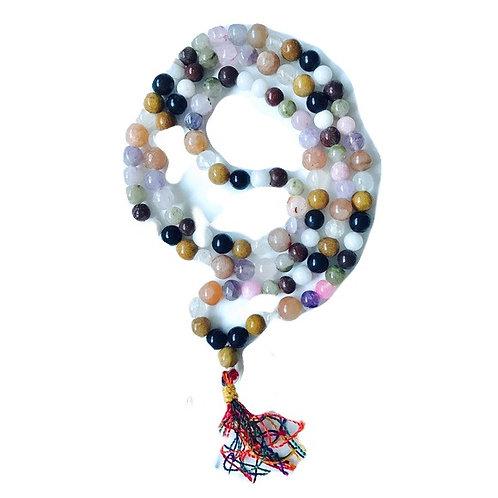 9 Gemstone Mala Necklace