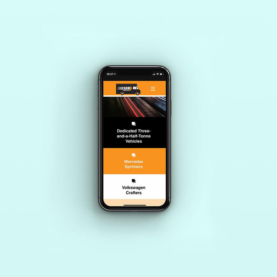 SRM Website on mobile