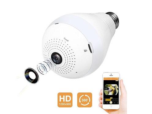 Wifi ampoule 9W Led panoramique 360° caméra 1.3MP 1280x960P