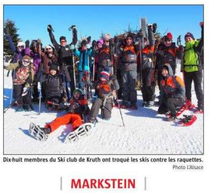 Le SCK a participé en nombre à l'Alsacienne de Raquettes au Markstein