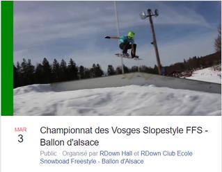 Championnat des Vosges Slopestyle FFS - Ballon d'alsace