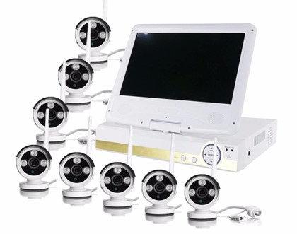 """Kit Complet 8 caméras wifi / 1 enregistreur écran 10"""""""