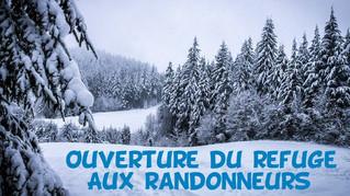 Ouverture du refuge - Rendez-vous le 09 Janvier au Frenz!
