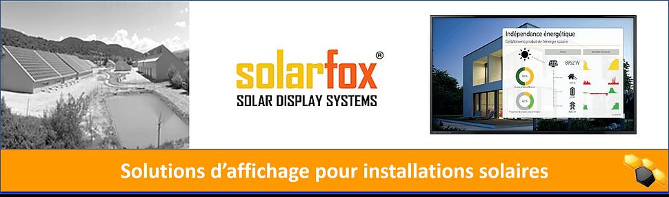 Solarfox publique display photovoltaique