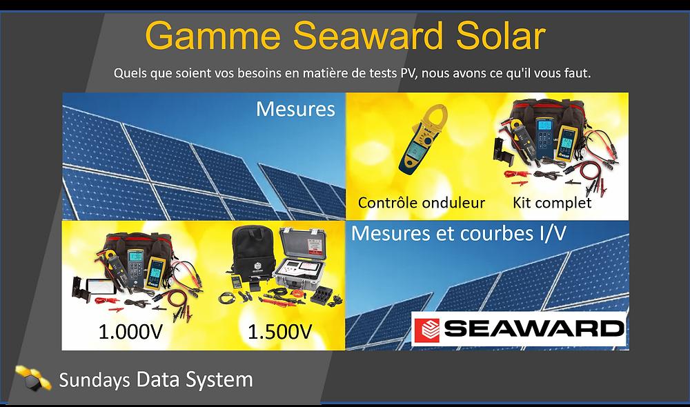 Gamme seaward Soalr Sundays Data