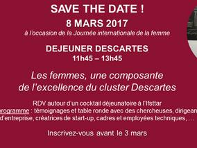 Déjeuner 8 mars : Les femmes, une composante de l'excellence du cluster Descartes !