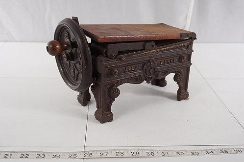 19th Century Plug Table Top 1860s Tobacco Shredder/cutter By Aal Werke