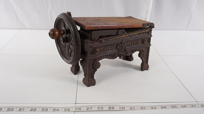 19th Century Plug Table Top 1860s Tobacco Shredder/cutter By