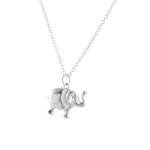 product silver mynamenecklace engraved elephant jumbo necklace ie pendant