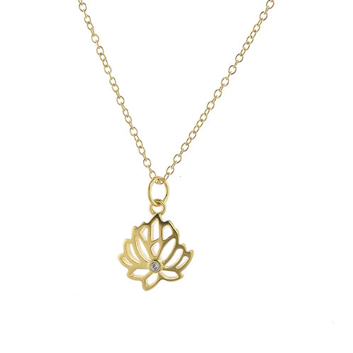 Lotus- Strength and Beauty Pendant