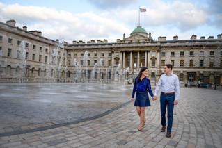 Engagement shoot Somerset House & Regent's Park London