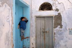 Kid in old street, Tunisia