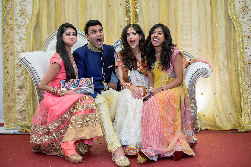 fun wedding photographer indian london