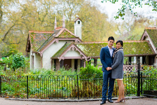 A short autumn pre-wedding shoot in St James park and Westminster