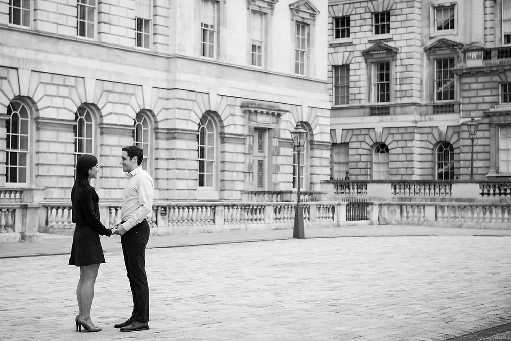 fashion couple somerset house london shoot