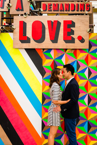 Fun and touching outdoor engagement photoshoot in London South Bank