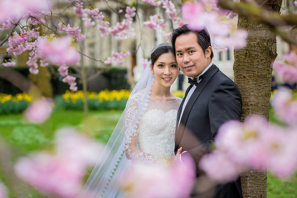 asian couple portrait saint james park london