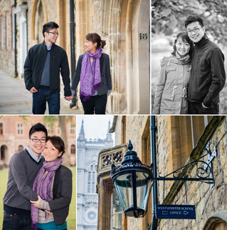 A casual oversea wedding anniversary shoot  in Westminster, London