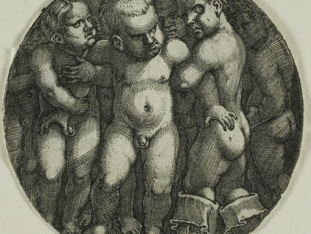 Sebald Beham (1500-1550): Ocho chicos desnudos