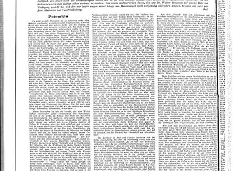 """Jüdische Rundschau / Diario en que se publicó por primera vez el ensayo """"Franz Kafka""""."""