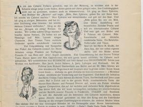 Hugo Ball: Manifiesto inaugural de la primera velada DADA en el Cabaret Volaire (1916)