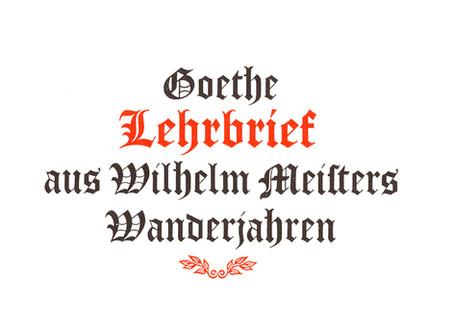 Goethe: una lección