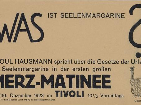 Kurt Schwitters: Matinée-Merz, 30-11-1923