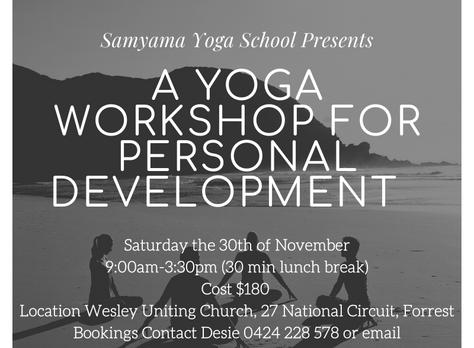 Yoga Practice & Personal Development