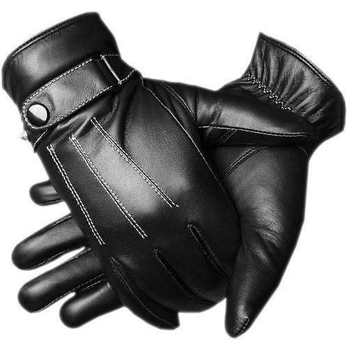 adelphos スマホ 対応 人気 レザー グローブ インナー フリース メンズ 大人 男性 用 かっこいい 革 手ぶくろ 冬 防寒 手袋 裏起毛 暖かい 黒