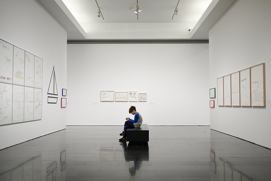 Young Boy in a Museum