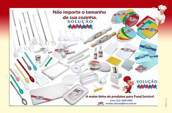 Solução em Plásticos, a maior linha de produtos para Food Service.