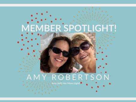 Member Spotlight: Amy Robertson!