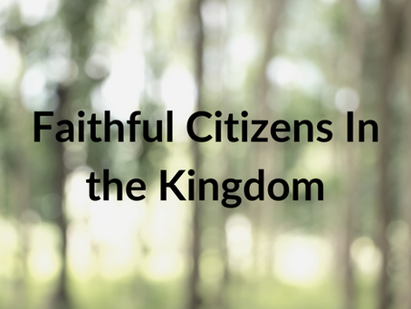 Faithful Citizens In the Kingdom