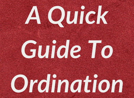 A Quick Guide to Ordination