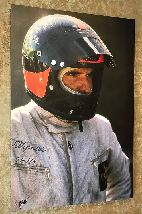 Emerson Fittipaldi (Canvas Print)