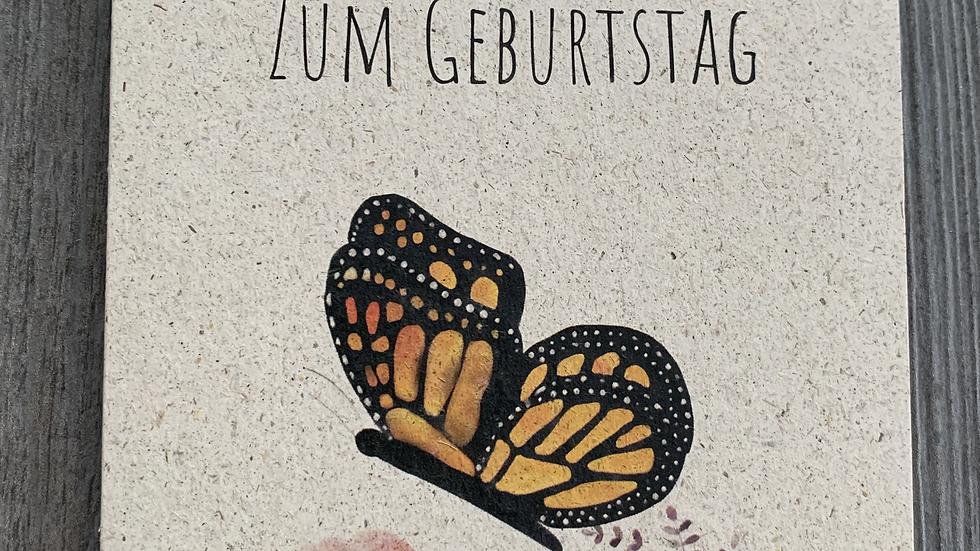 Schmetterling - Alles Gute zum Geburtstag