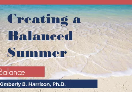 Creating A Balanced Summer