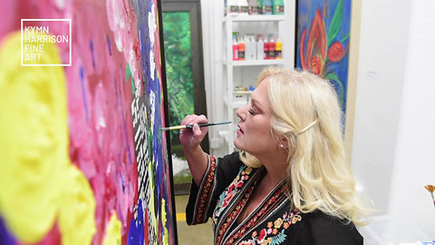 Visit with artist Kymn Harrison in her studio at Silver Street in Houston's renowed art community, Sawyer Yards.