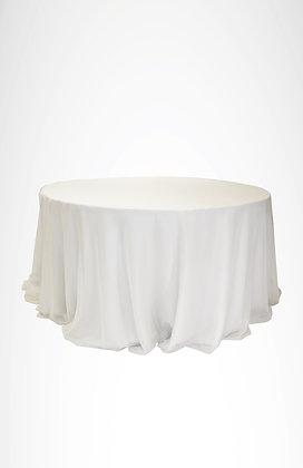 Mantel blanco (base) Mantel organza blanco (sobre mantel)