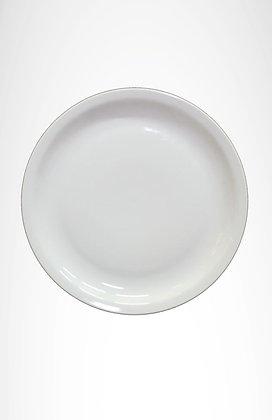 Plato de pocelana blanco
