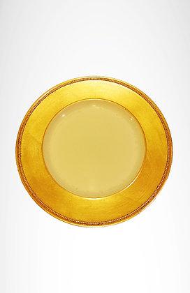 Plato base borde dorado