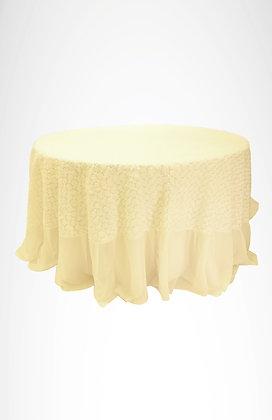 Mantel blanco ( base) mantel Rococó blanco ( sobre mantel)