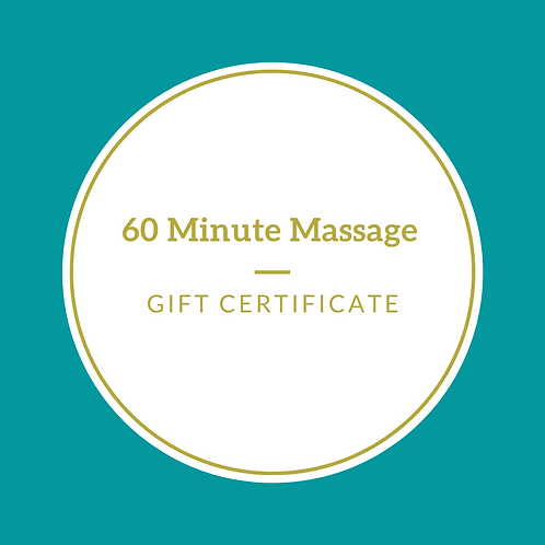 Gift Certificate-60 Minute Massage