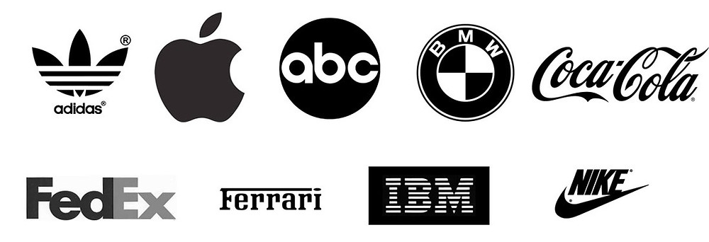 Monochrome logos that have a solid impact on its audience.